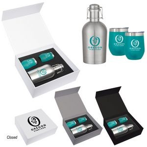 Stemless Wine and Growler Gift Set