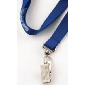 "3/8"" Flat Polyester Lanyard w/ 10 Business Day Production Time"