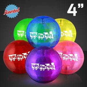 Custom Printed Super Sized Air Bounce Ball w/ Blue Led LED Lights